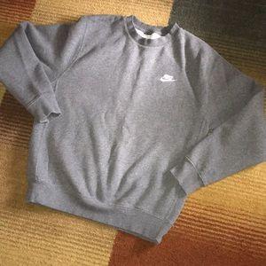 Unisex NIKE gray sweatshirt